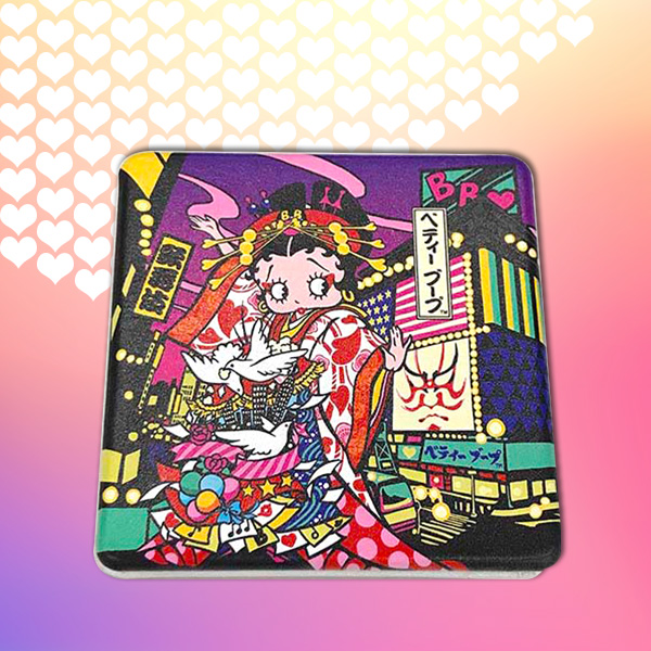 Betty Boop with 歌舞伎 コンパクトミラー